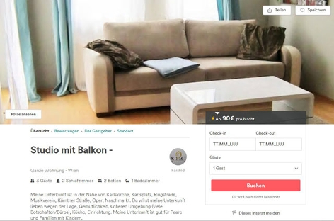 Inserat von Kimi Apartments bei Airbnb