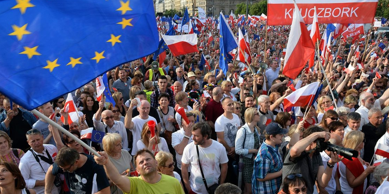 Demonstration in Polen
