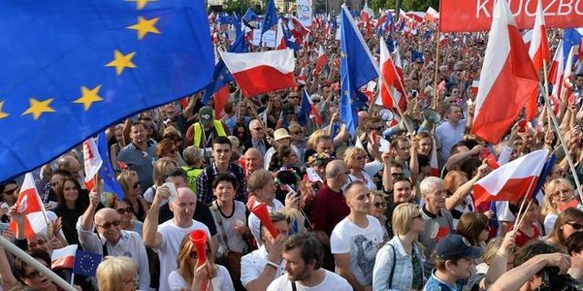 Demonstration in Polen