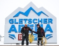 Abbauarbeiten nach Absage des Riesentorlaufs der Herren am 29. Oktober 2017 am Rettenbachferner in Sölden