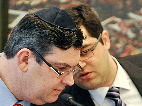 Oskar Deutsch (l.), Präsident der Israelitischen Kultusgemeinde (IKG), und Vizepräsident Chanan Babacsayv