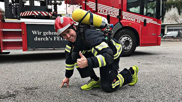 Feuerwehrmänner der Berufsfeuerwehr Salzburg