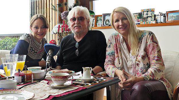 Claudia Stöckl mit Laura und Reinhold Bilgeri