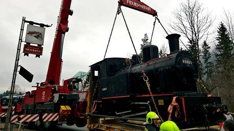 Transport einer Dampflok