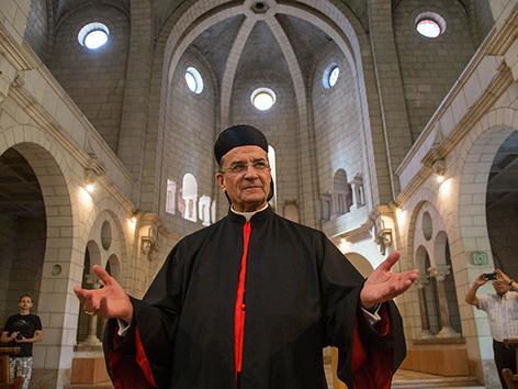 Der libanesische maronitische Patriarch Bechara Boutros Rai