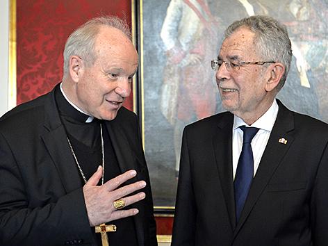 Kardinal Christoph Schönborn (li.) und BP Alexander Van der Bellen