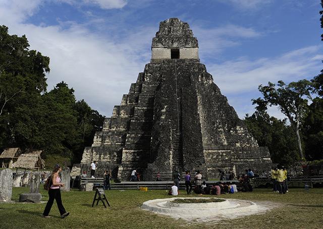 Maya-Tempel in Tikal, im heutigen Guatemala, eine der untersuchten Fundstätten