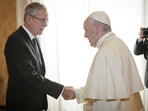 Bundespräsident Alexander Van der Bellen bei Papst Franziskus im Vatikan