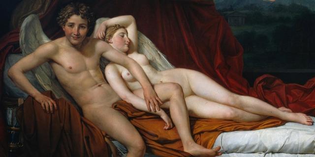 Gemälde von Jacques-Louis David: Eros und Psyche (1817)