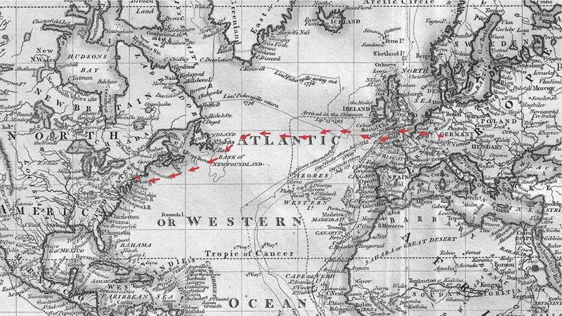 Weltkarte von 1801