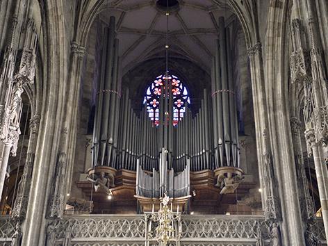 Die Riesenorgel im Stephansdom mit 10.000 Pfeifen