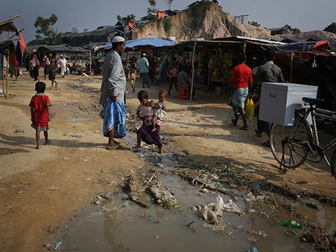 Rohingya-Flüchtlingslager in Bangladesch