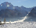 Schneelandschaft in den Alpen