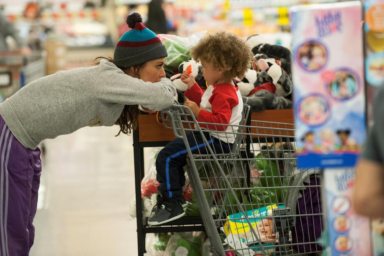 bridgette und larry im supermarkt