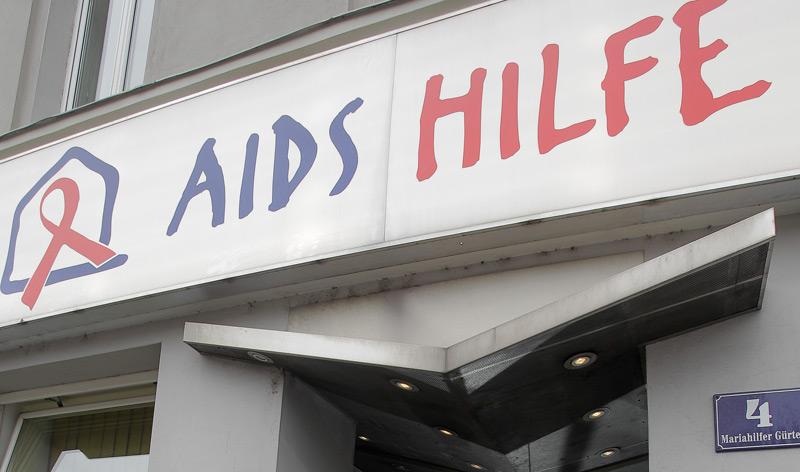 Aids-Hilfe-Haus Tageszentrum in Wien (Eingang)