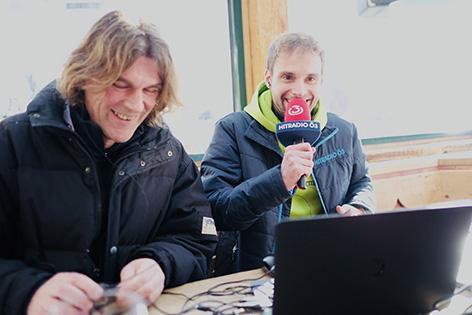 Benny Hörtnagl und Clemens Stadtlbauer beim Ski-Opening in Schladming