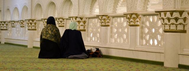 Frauen in der Umar Ibn Al-Khattab-Moschee in Berlin