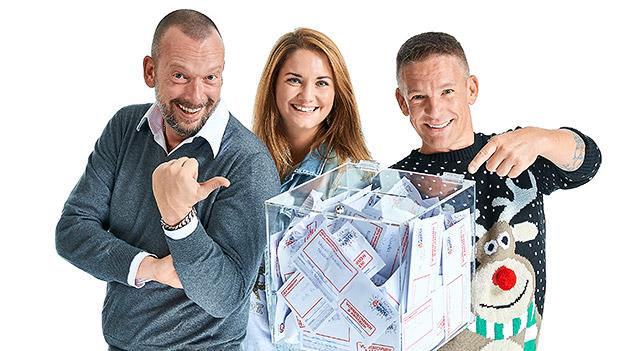 Robert Kratky, Gabi Hiller und Andi Knoll mit Spendenbox