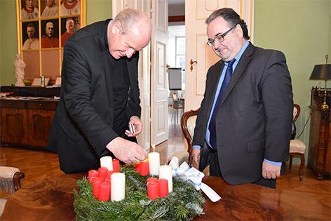 Adventbesuch von Diakoniedirektor Michael Chalupka bei Kardinal Christoph Schönborn