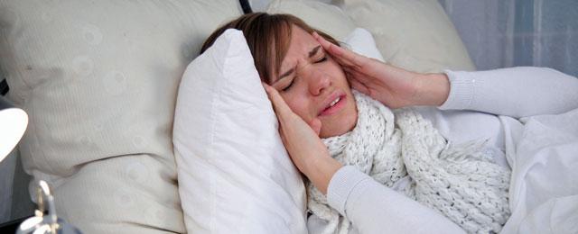 Frau krank