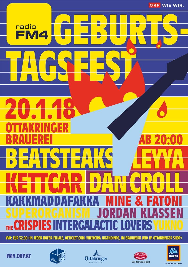 Plakat FM4 Geburtstagsfest