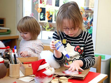 Basteln zu Nikolaus im Kindergarten