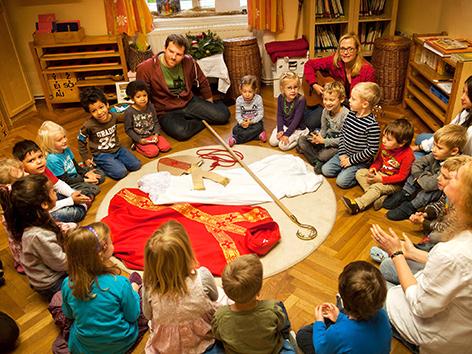 Nikolofeier im Kindergarten