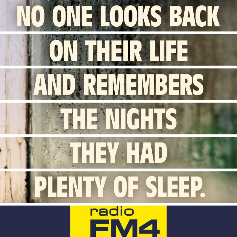 No one looks back on their life and remembers the night they had plenty of sleep.