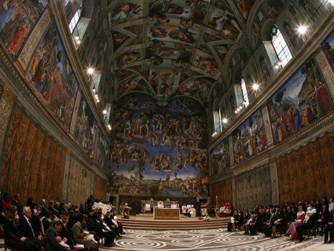 Innenruam der sixtinischen Kapelle
