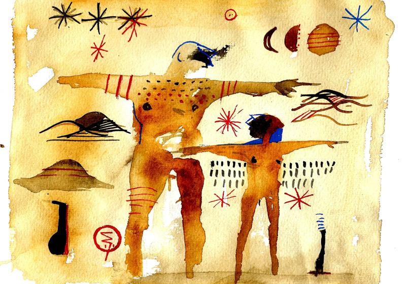 """Illustration zu """"Die Sonne und der Mond"""""""