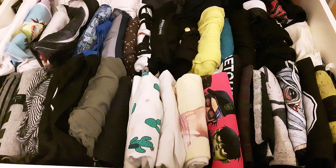 Kleidungsschubladen