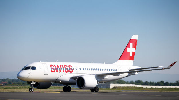 Swiss Air Flugzeug