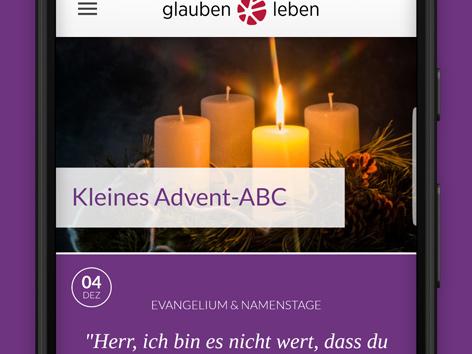 Smartphone mit Kirchen-App zu Weihnachtsgottesdiensten