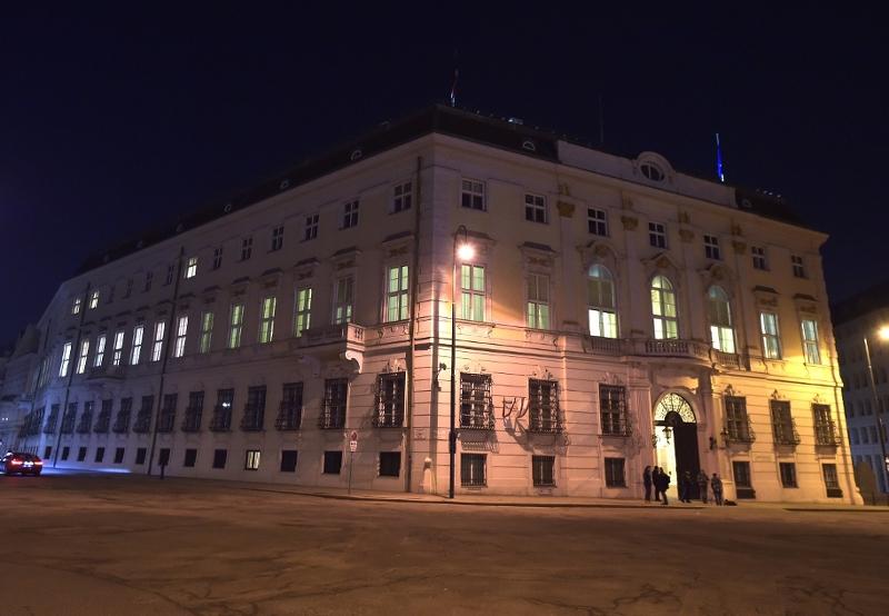 Das Bundeskanzleramt von draußen