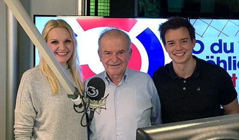 Rudi Klausnitzer mit Lisa Hotwagner und Philipp Hansa