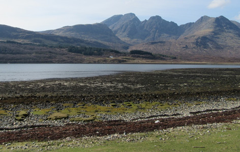 Fundstelle bei Loch Slapin, einer Bucht der Isle of Skye