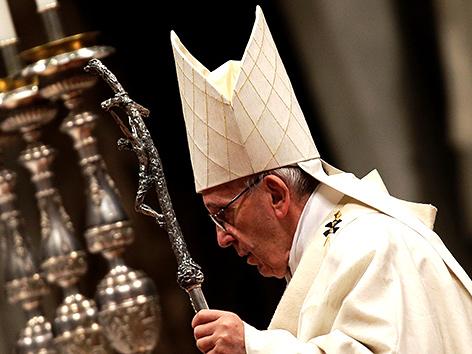 Papst Franziskus feiert eine Messe zu Ehren der Jungfrau von Guadalupe