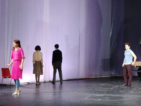 """Szene aus dem Theaterstück """"Die zehn Gebote"""" nach den Filmen von Krzysztof Kieslowski"""