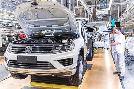Volkswagen Touareg Produktion in Bratislava, Slowakei