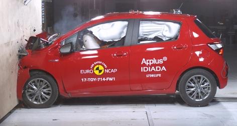 Toyota Yaris im Crashtest - fünf Sterne