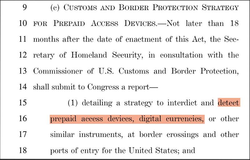 US-Gesetzesentwurf Bitcoin Screenshot
