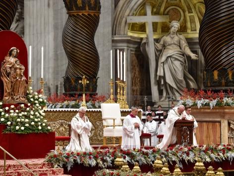 Papst Christmette