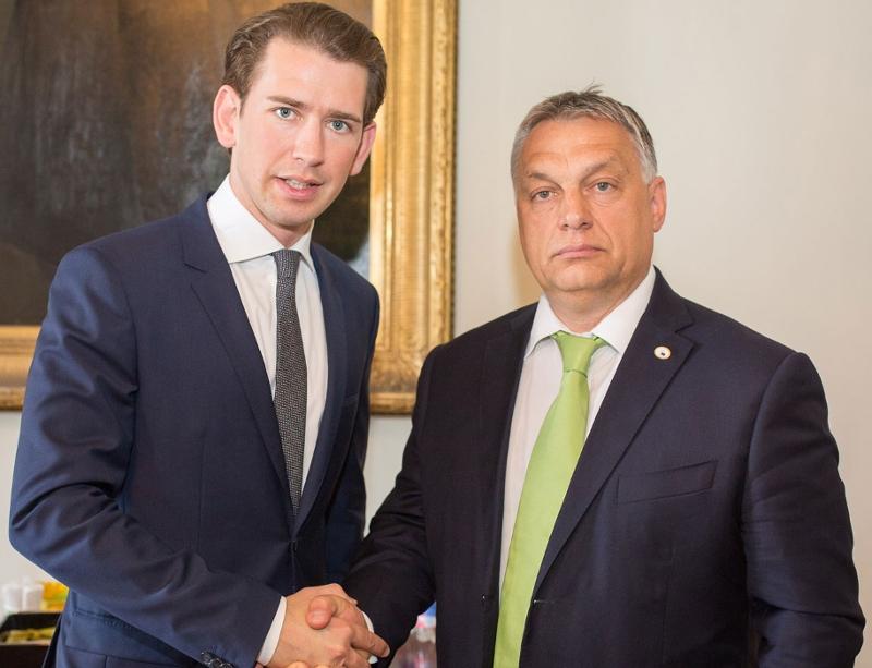 Sebastian Kurz mit Viktor Orban