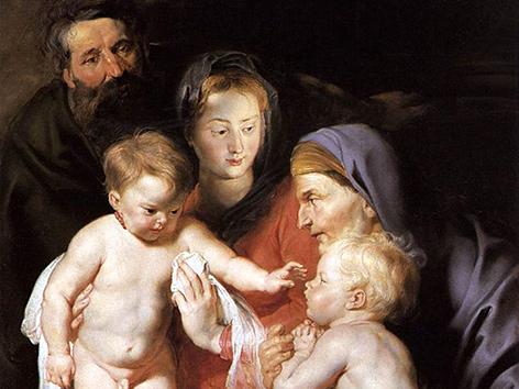 Peter Paul Rubens: Die heilige Familie mit Elisabeth und Johannes dem Täufer (ca. 1614)