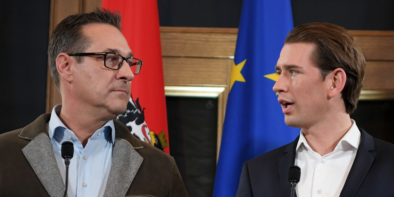 Vizekanzler Strache und Bundeskanzler Kurz