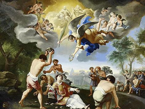 Steinigung des Heiligen Stephanus, Gemälde von Luigi Garzi (1638–1721)