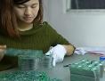 Produktion in einer Elektronikfabrik in Shenzhen, China