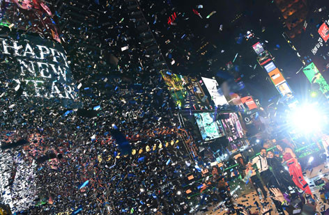 New York Time Square zu Silvester