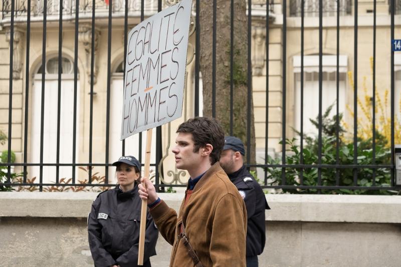 Armand bei einer Demo