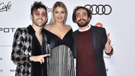 """Die drei Youtuber Max, Constantino Carrara und Nicole Cross bei """"Channel Aid in Concert"""""""